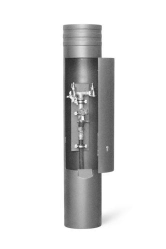 Funktionpoller in eisenglimmer mit Wasseranschluss