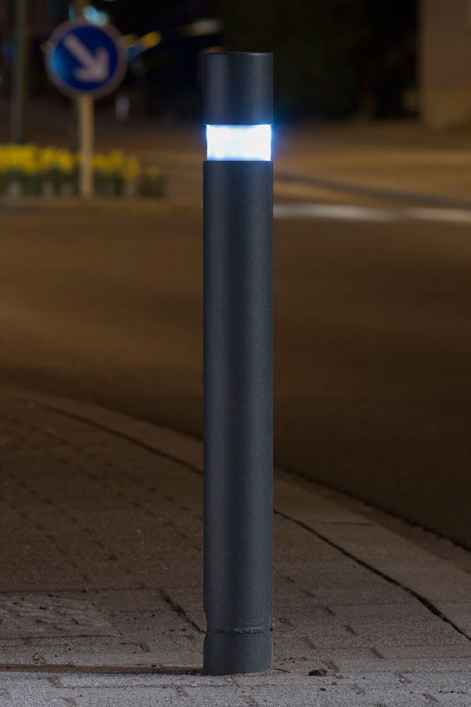 Lighting Bollard 210 Led Aluminium Cast Abes Public Design