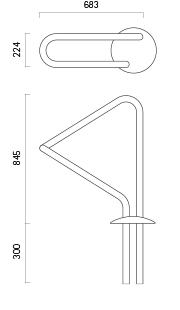 Fahrradparker 450-1 - Technische Zeichnung