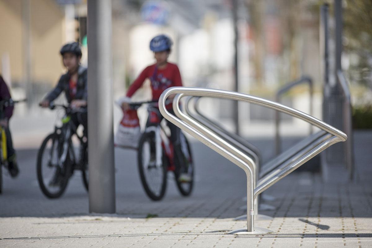 Fahrradständer aus Edelstahl zum Festeinbau