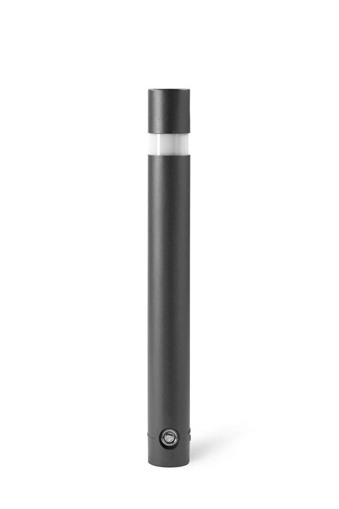 870mm hoher runder Leuchtpoller in DB703 mit 3p-Technologie