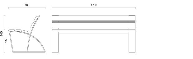 Parkabank 100 - Technische Zeichnung