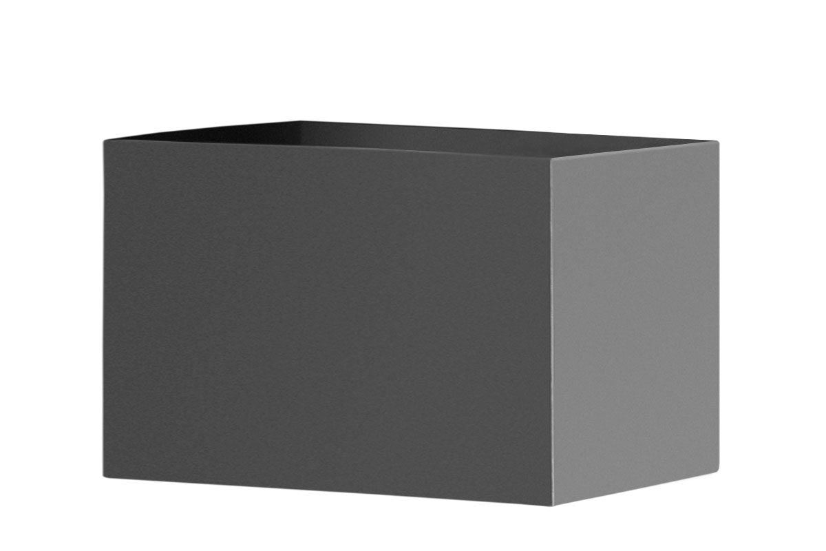 Rechteckiger Pflanzkübel aus Edelstahl