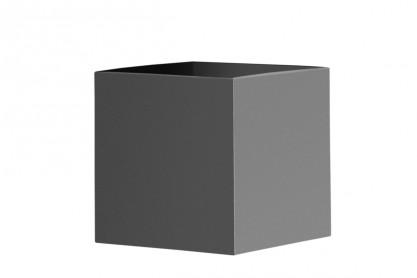quadratischer Pflanzkübel aus Edelstahl