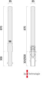 Poller 027-2 - Technische Zeichnung