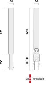 Poller 031-1 - Technische Zeichnung