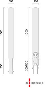 Poller 42-1 - Technische Zeichnung