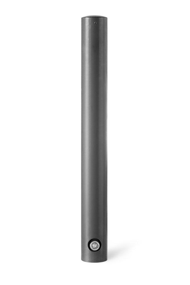runder Poller aus Stahl puvluverbeschichtet in DB703 1m hoch