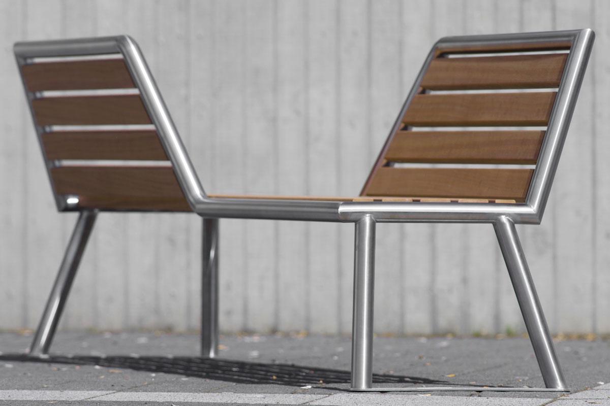modernes stadtmobiliar parkbank 103 aus stahl abes public design. Black Bedroom Furniture Sets. Home Design Ideas