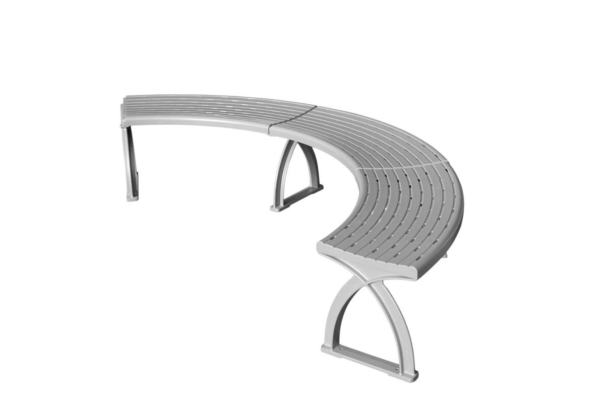 Sitzbank System aus Aluguss ohne Rückenlehne