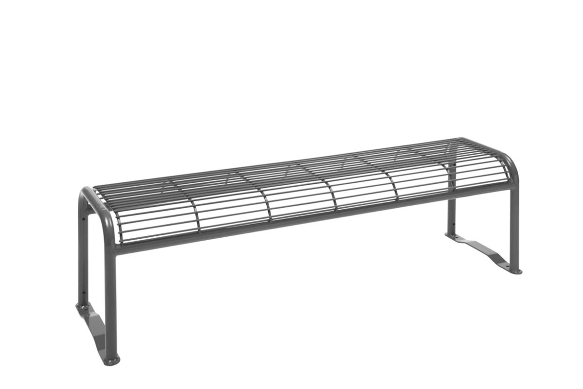 Parkbank mit Gitter Sitzfläche