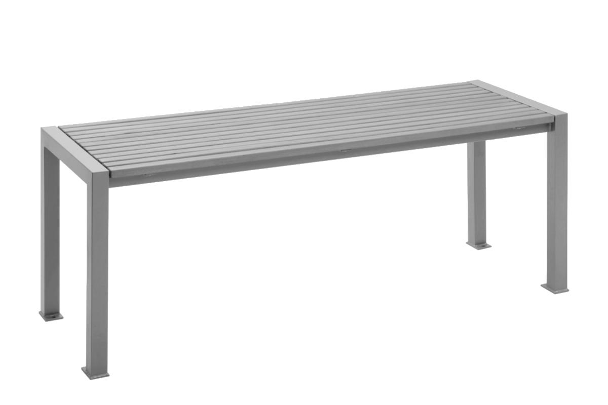 Tisch aus verzinktem stahl und teak holz abes for Design tisch stahl