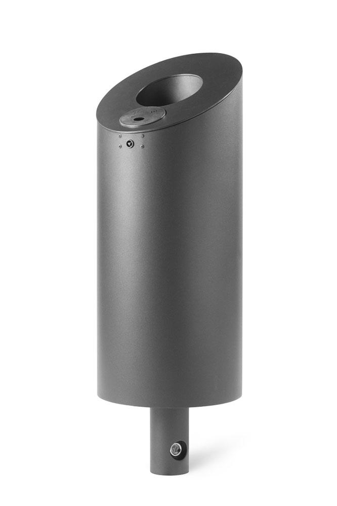Abfallbehälter mit abgeschrägtem Einwirf, Ascher inklusive
