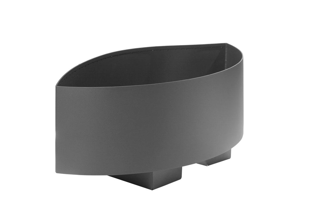 pflanzk bel mit geschwungene seitenw nde aus edelstahl abes. Black Bedroom Furniture Sets. Home Design Ideas